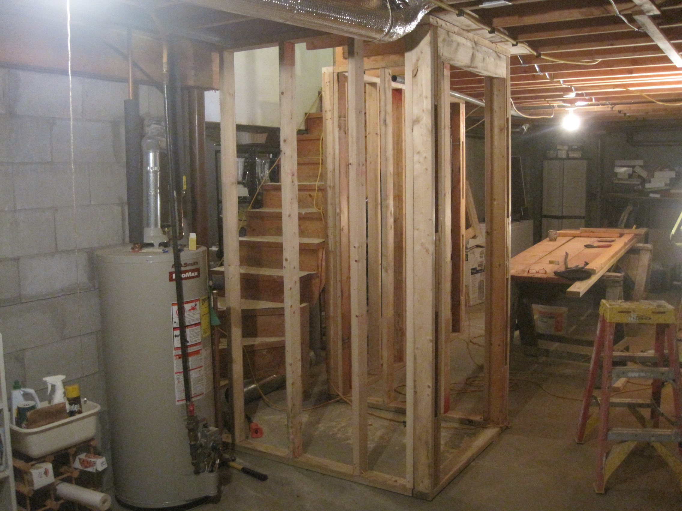 Framing Around Basement Stairway Entry