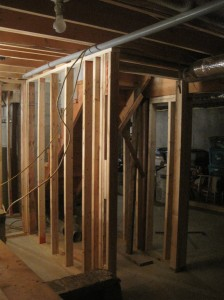 framing around basement stairs
